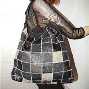 LUCKY BRAND Slouch Hobo Leather Patchwork Handbag